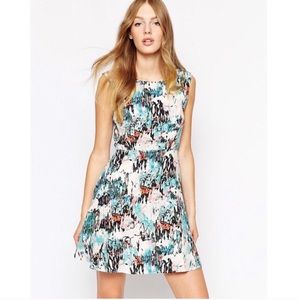 french connection   isla ripple fit flare dress